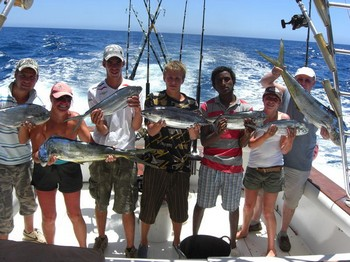 satisfied fishermen Cavalier & Blue Marlin Sport Fishing Gran Canaria