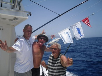 3 bill fish tagged Cavalier & Blue Marlin Sport Fishing Gran Canaria
