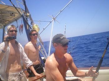 Three friends Cavalier & Blue Marlin Sport Fishing Gran Canaria