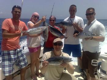 23/07 Clientes felices Pesca Deportiva Cavalier & Blue Marlin Gran Canaria