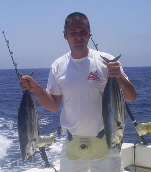 Atunes barrilete Pesca Deportiva Cavalier & Blue Marlin Gran Canaria