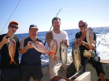 14/01 Pescadores satisfechos Pesca Deportiva Cavalier & Blue Marlin Gran Canaria