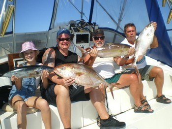 22/02 The Winners - Satisfied aglers on the boat Cavalier Cavalier & Blue Marlin Sport Fishing Gran Canaria