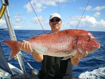 05/05 Red Snapper - Beautiful Snapper caught by Johnny Jensen from Denmark Cavalier & Blue Marlin Sport Fishing Gran Canaria