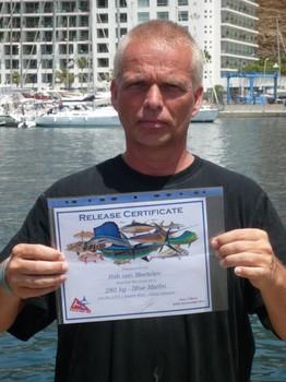the certificate Cavalier & Blue Marlin Sport Fishing Gran Canaria