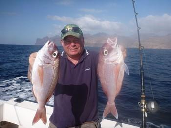 2 pargos rojos Pesca Deportiva Cavalier & Blue Marlin Gran Canaria