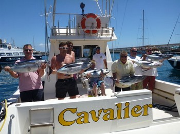 07/08 Albacore Explosion - Albacore explosion on the boat Cavalier Cavalier & Blue Marlin Sport Fishing Gran Canaria