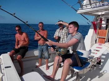 hooked in Cavalier & Blue Marlin Sport Fishing Gran Canaria
