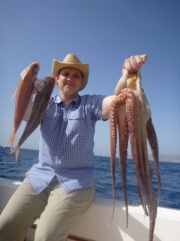 Octopus / Red Snappers Cavalier & Blue Marlin Sport Fishing Gran Canaria