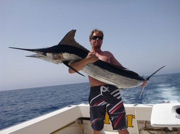 Giant Spear fish - Sjoerd Carrière from Holland on the boat Cavalier Cavalier & Blue Marlin Sport Fishing Gran Canaria