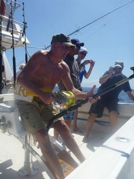 Hooked Up - Coen Coense from Holland is fighting with a Blue Marlin Cavalier & Blue Marlin Sport Fishing Gran Canaria