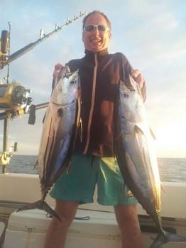 Skipjack Tunas - Skipjacks Tunas caught by Jem Dicken from the United Kingdom. Cavalier & Blue Marlin Sport Fishing Gran Canaria