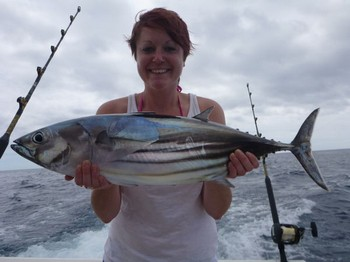 Skipjack Tuna - Sophie Revett on the boat Cavalier Cavalier & Blue Marlin Sport Fishing Gran Canaria