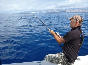 Hooked up - Bobirew from Gemany Cavalier & Blue Marlin Sport Fishing Gran Canaria