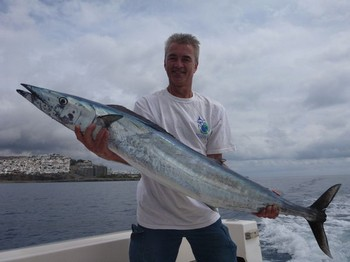 21 kg Wahoo caught by Peter Schuurbiers from Holland Cavalier & Blue Marlin Sport Fishing Gran Canaria