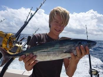 Atlantic Bonito capturado por Benjamin de Noruega Pesca Deportiva Cavalier & Blue Marlin Gran Canaria
