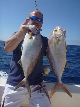 Amberjacks - Lord David Adams del Reino Unido Pesca Deportiva Cavalier & Blue Marlin Gran Canaria