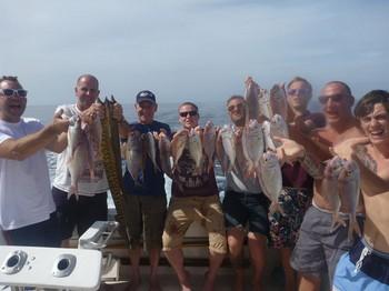 Felicitaciones a todos estos pescadores del Cavalier Pesca Deportiva Cavalier & Blue Marlin Gran Canaria