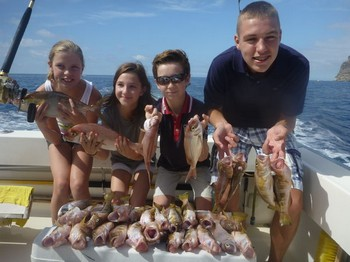Happy Fishermen - Great catch done by these 4 anglers from Holland Cavalier & Blue Marlin Sport Fishing Gran Canaria