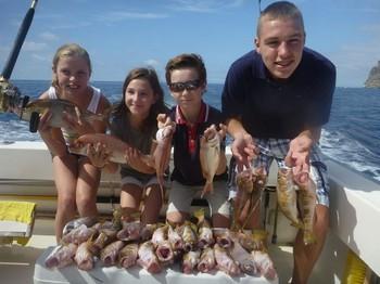 Happy Fishermen - Gran captura realizada por estos 4 pescadores de Holanda Pesca Deportiva Cavalier & Blue Marlin Gran Canaria