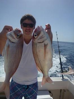 Pargos rojos capturados por Glenn Arens Pesca Deportiva Cavalier & Blue Marlin Gran Canaria