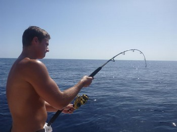 Hooked Up - Hooked up on the boat Cavalier Cavalier & Blue Marlin Sport Fishing Gran Canaria