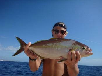 Amberjack caught by Jonathan Nylander from Sweden Cavalier & Blue Marlin Sport Fishing Gran Canaria