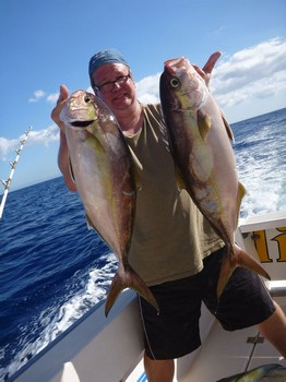 Amberjacks caught by Christian Arbild from Denmark Cavalier & Blue Marlin Sport Fishing Gran Canaria