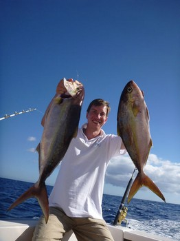 Amberjacks caught by Jan Smidt from Germany Cavalier & Blue Marlin Sport Fishing Gran Canaria