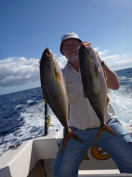 Amberjacks caught by Mikko Hannirainen from Finland Cavalier & Blue Marlin Sport Fishing Gran Canaria