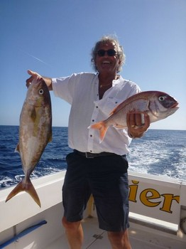 Well done - Red Snapper & Amberjack caught by angler Ed Schoonacker Cavalier & Blue Marlin Sport Fishing Gran Canaria
