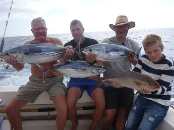 Nice Catch - Satisfied fishermen from Sweden on the boat Cavalier Cavalier & Blue Marlin Sport Fishing Gran Canaria