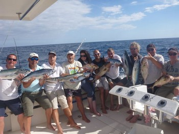 Happy Together - Satisfied anglers after a day fishing on the Cavalier Cavalier & Blue Marlin Sport Fishing Gran Canaria