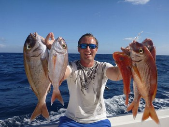 Red Snappers caught on the boat Cavalier Cavalier & Blue Marlin Sport Fishing Gran Canaria