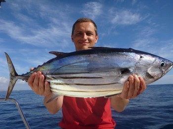 Skipjack Tuna - Thomazs Drzewiecki from Poland on the boat Cavalier Cavalier & Blue Marlin Sport Fishing Gran Canaria