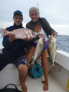 Well Done - Ruth from Germany on the boat Cavalier Cavalier & Blue Marlin Sport Fishing Gran Canaria