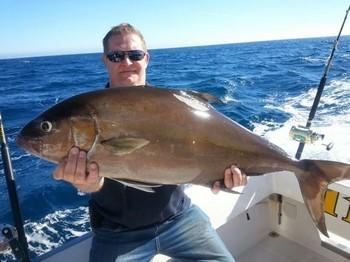 15 lbs Amberjack caught by Soren Kristiansen from Denmark Cavalier & Blue Marlin Sport Fishing Gran Canaria