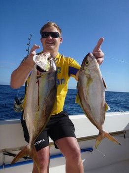 Amberjacks caught on the boat Cavalier Cavalier & Blue Marlin Sport Fishing Gran Canaria