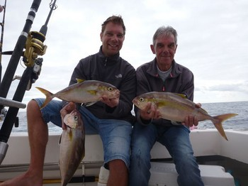 Father and son - Father & son Gründmann on the boat Cavalier Cavalier & Blue Marlin Sport Fishing Gran Canaria