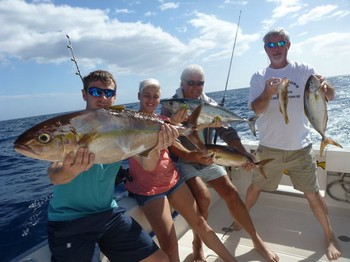 Well done - Satisfied fishermen on board of the Cavalier Cavalier & Blue Marlin Sport Fishing Gran Canaria