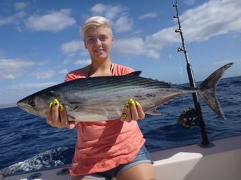 North Atlantic Bonito - North Atlantic Tuna caught by Dina Smet from Belgium Cavalier & Blue Marlin Sport Fishing Gran Canaria
