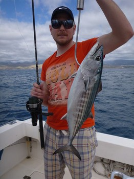 North Atlantic Bonito caught by Marcus Karlsson from Sweden Cavalier & Blue Marlin Sport Fishing Gran Canaria