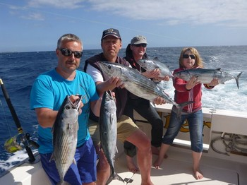Well done - Satisfied anglers on the Cavalier Cavalier & Blue Marlin Sport Fishing Gran Canaria