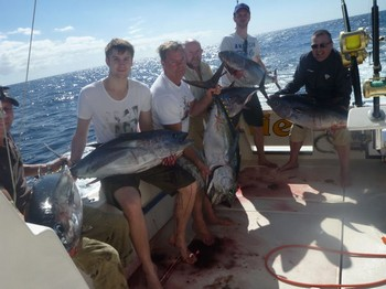 Satisfied Anglers - Satisfied anglers on board of the boat Cavalier Cavalier & Blue Marlin Sport Fishing Gran Canaria