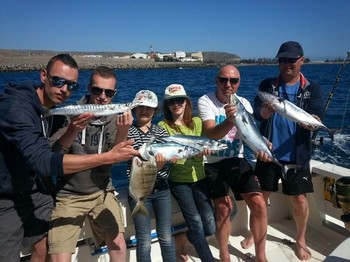 Hooked up - Peter de Boer and friends from Holland Cavalier & Blue Marlin Sport Fishing Gran Canaria