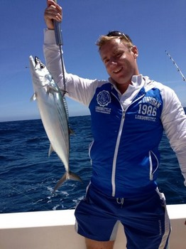 Atlantic Bonito - North Atlantic Bonito caught by Maurice from Holland Cavalier & Blue Marlin Sport Fishing Gran Canaria