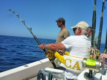 Hooked Up - Paul Dompeling hooked up on the Cavalier Cavalier & Blue Marlin Sport Fishing Gran Canaria
