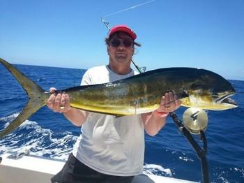 Dorado - Bob Lynn from England on the Cavalier Cavalier & Blue Marlin Sport Fishing Gran Canaria
