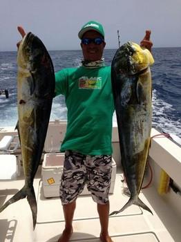 Dorado's - Hafid, owner and crew member, of the boat Cavalier Cavalier & Blue Marlin Sport Fishing Gran Canaria