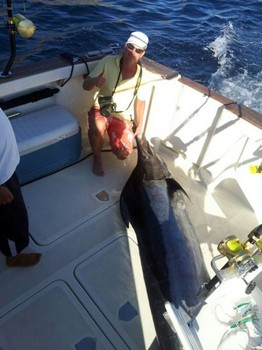 Blue Marlin - This Blue Marlin died unfortunately behind the deck Cavalier & Blue Marlin Sport Fishing Gran Canaria